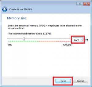 VirtualBox przypisanie pamięci RAM do wirtualnej maszyny.