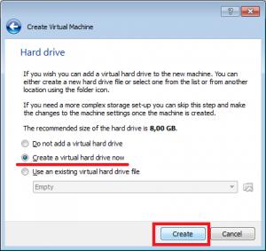 VirtualBoc tworzenie nowej wirtualnej maszyny.